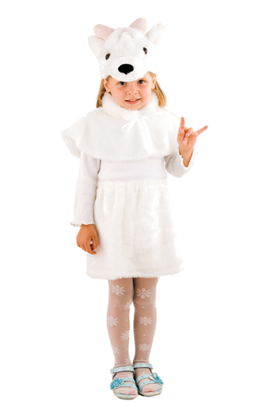 Карнавальный костюм овцы козы для девочки